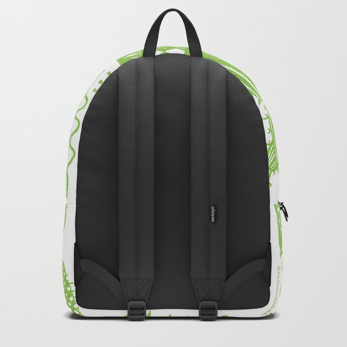 Cactii Textured Print Pattern Backpack