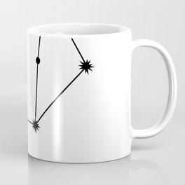 LIBRA (BLACK-WHITE STAR SIGN) Coffee Mug