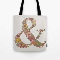 ampersand Tote Bags featuring Ampersand by Valentina Harper