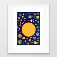 solar system Framed Art Prints featuring Solar System by Ben Giles