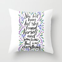 1989 Throw Pillows featuring Hidden Message 1989 by IndigoEleven