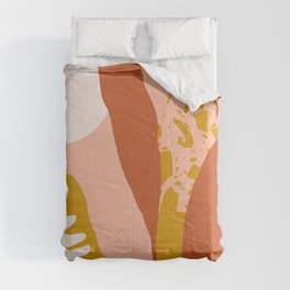 Pink morning Comforters