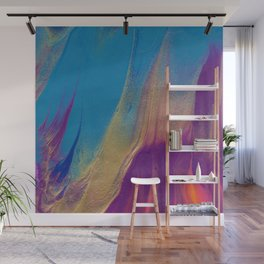 Golden Sunset Abstract Painting Wall Mural