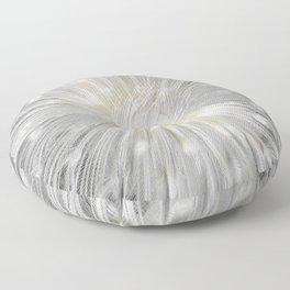 White Peacock Floor Pillow