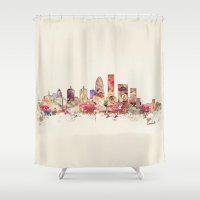 kentucky Shower Curtains featuring louisville kentucky by bri.buckley