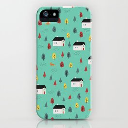 Countryside Pattern iPhone Case