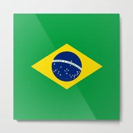 Brazil Flag Graphic Design Metal Print