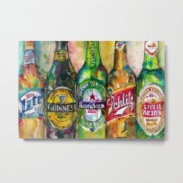Miller Lite - Guinness- Heineken -Schlitz-Stella Artois Metal Print