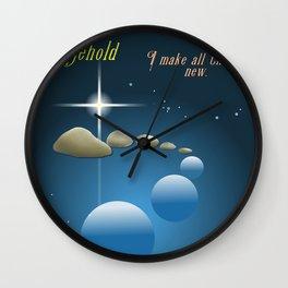 All Things New Wall Clock
