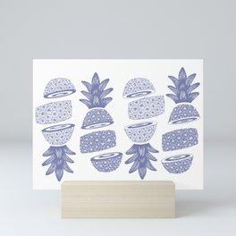 Pineapples (Light/Sliced) Mini Art Print