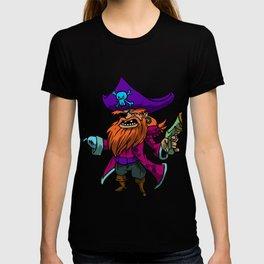 Pirate Gun Bandit Hacker Robber Raider Rover Gift  T-shirt