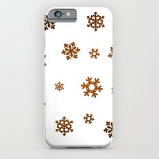 Snowflakes (Bronze and Black on White) Slim Case iPhone 6s