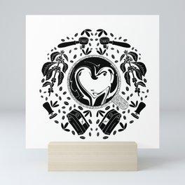 Coffee Lovers Black and White // Plant to Cup// Espresso Addict // Barista Illustration Mini Art Print