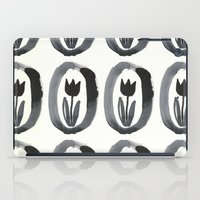 aelwen iPad Cases featuring Black tulip by Zsofi Porkolab