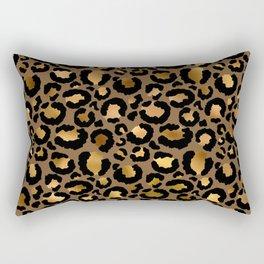 Leopard Metal Glamour Skin Rectangular Pillow