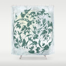 The green earth is man's sacred centre Shower Curtain