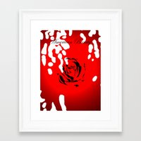 american beauty Framed Art Prints featuring American Beauty by doodletome