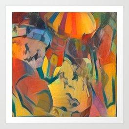 abstract Carnival ride Art Print