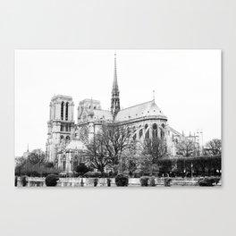 Notre Dame on film Canvas Print