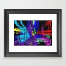 Abstract, geometrical, dimensional, colored. Framed Art Print