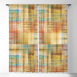 Multicolored patchwork mosaic pattern Blackout Curtain