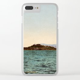 Alcatraz and the Golden Gate, San Francisco Bay, California, 1898- Clear iPhone Case