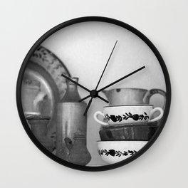 Pottery still life Wall Clock