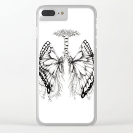 Butterfly Lungs Clear iPhone Case
