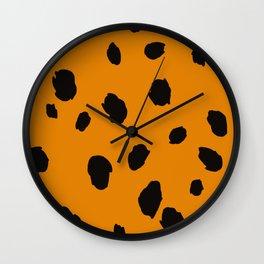 Animal Print Illustration Wall Clock
