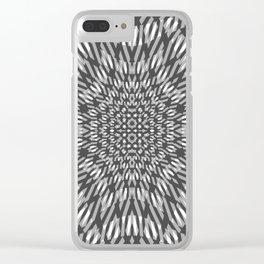 warped bandanna. charcoal Clear iPhone Case