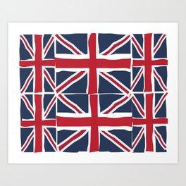 Union Jack flag pattern Art Print