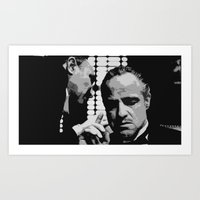 godfather Art Prints featuring The Godfather by creejon