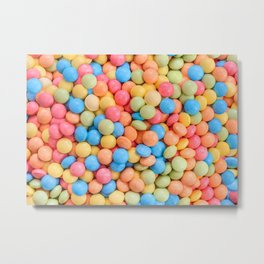 Sweet & Sour Pastel Candy Tarts Pattern Metal Print