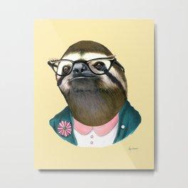 Sloth Lady art print by Ryan Berkley Metal Print