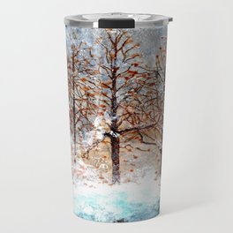 Snow Flurries on Moon Lake up Dewdrop Holler Travel Mug