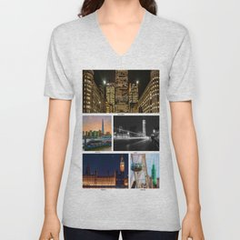 On a clear day, you can see London Unisex V-Neck