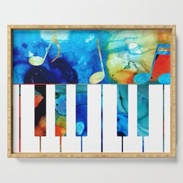 Colorful Piano Art by Sharon Cummings Serving Tray