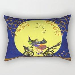 Broken Broom Halloween art print Rectangular Pillow