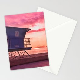 Long Beach Sunset Stationery Cards