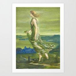"Sir Edward Coley Burne-Jones ""Evening"" Art Print"