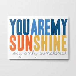 {sunshine-blue} Metal Print