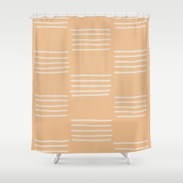 hatches – peach Shower Curtain