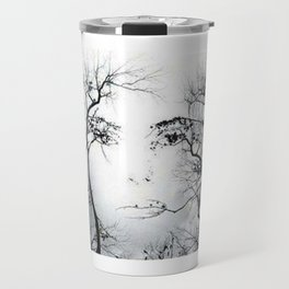 face in the trees Travel Mug