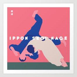 Ippon Seoi Nage Art Print
