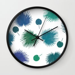 Tropical Leaves 03 - Palms Wall Clock