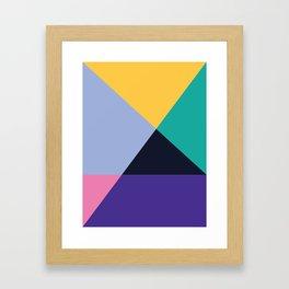 Colorful pattern XVI Framed Art Print