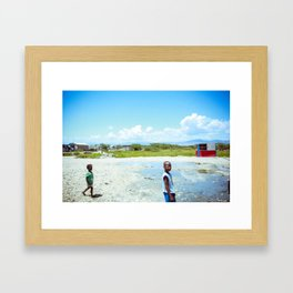 At the Water Well Framed Art Print
