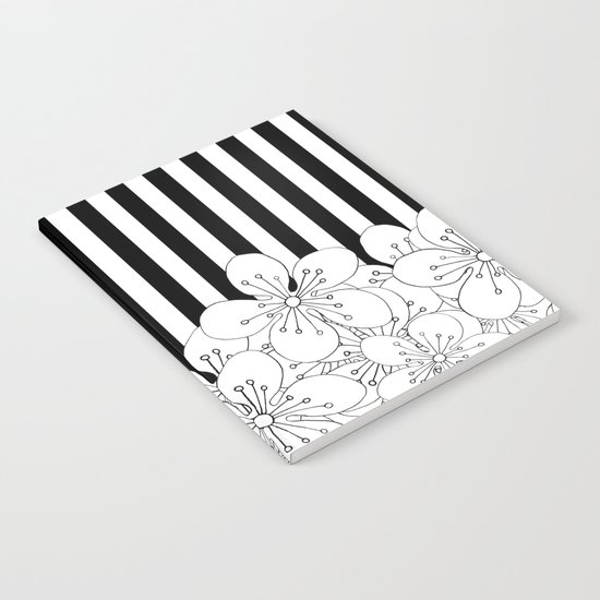 Cherry Blossom Stripes - In Memory of Mackenzie Notebook