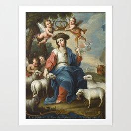 Miguel Cabrera - The Divine Shepherdess (La divina pastora) Art Print