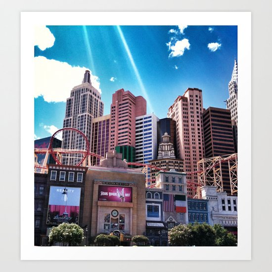 Las Vegas New York New York.!  Art Print